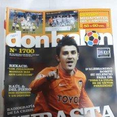Collezionismo sportivo: 13801 DON BALON - MAYO DE 2008 - Nº 1700 - CON POSTER DE BALLACK. Lote 159199290