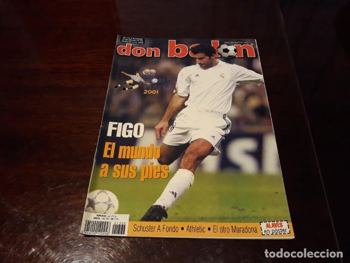 REVISTA DON BALON Nº 1366 - FIGO REAL MADRID - POSTER DEL DEPORTIVO ALAVÉS (Coleccionismo Deportivo - Revistas y Periódicos - Don Balón)