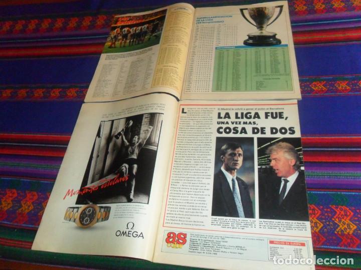 Coleccionismo deportivo: AS COLOR EXTRA LIGA 1988 1989, 1990 1991 Y ESPECIAL MUNDIAL ITALIA 90. PÓSTER REAL MADRID Y ESPAÑA. - Foto 2 - 159217510