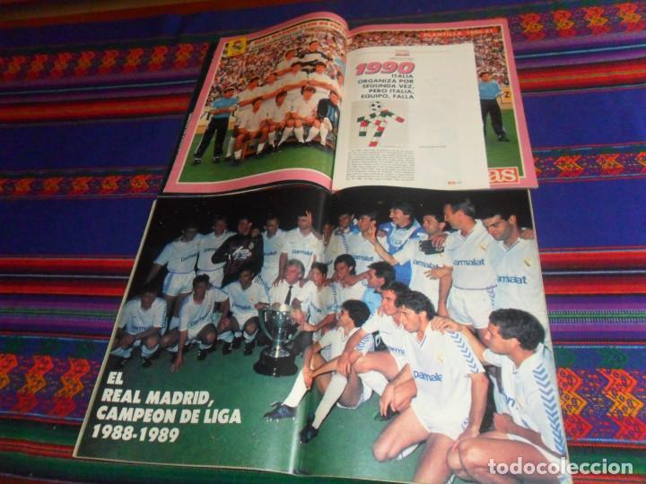Coleccionismo deportivo: AS COLOR EXTRA LIGA 1988 1989, 1990 1991 Y ESPECIAL MUNDIAL ITALIA 90. PÓSTER REAL MADRID Y ESPAÑA. - Foto 4 - 159217510