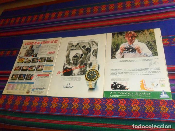 Coleccionismo deportivo: AS COLOR EXTRA LIGA 1988 1989, 1990 1991 Y ESPECIAL MUNDIAL ITALIA 90. PÓSTER REAL MADRID Y ESPAÑA. - Foto 6 - 159217510