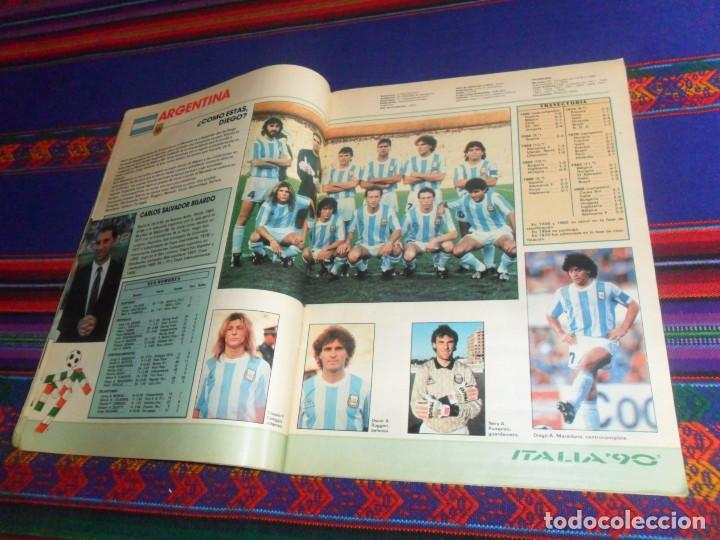 Coleccionismo deportivo: AS COLOR EXTRA LIGA 1988 1989, 1990 1991 Y ESPECIAL MUNDIAL ITALIA 90. PÓSTER REAL MADRID Y ESPAÑA. - Foto 9 - 159217510