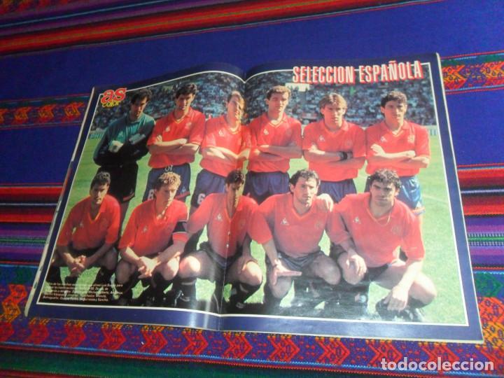 Coleccionismo deportivo: AS COLOR EXTRA LIGA 1988 1989, 1990 1991 Y ESPECIAL MUNDIAL ITALIA 90. PÓSTER REAL MADRID Y ESPAÑA. - Foto 12 - 159217510