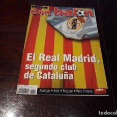 Coleccionismo deportivo: REVISTA DON BALON Nº 1401 - REAL MADRID SEGUNDO CLUB DE CATALUÑA - POSTER KARPIN REAL SOCIEDAD. Lote 159368926