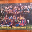Coleccionismo deportivo: POSTER DE SPORT CAMPEON CHAMPIONS 2011 ,MIDE 36 X 54. Lote 159393670