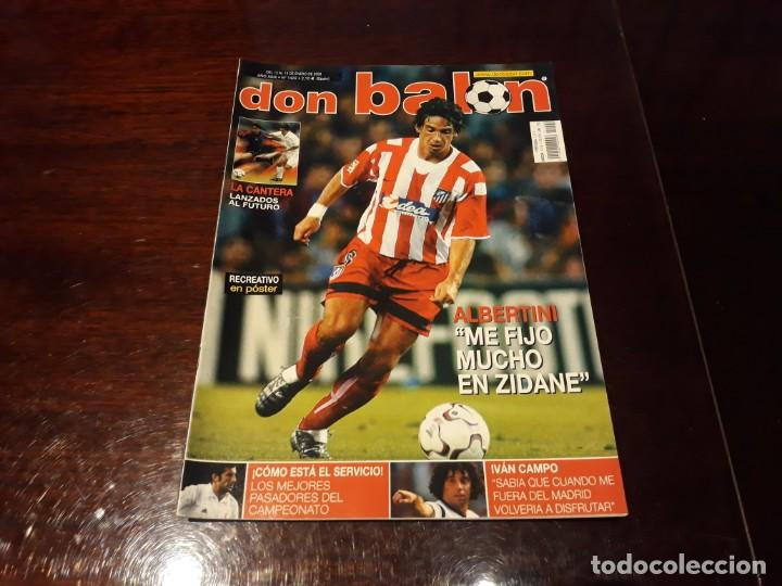 REVISTA DON BALON Nº 1422 - ALBERTINI AT DE MADRID - POSTER DEL RECREATIVO DE HUELVA 2002-03 (Coleccionismo Deportivo - Revistas y Periódicos - Don Balón)