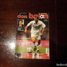Coleccionismo deportivo: REVISTA DON BALON Nº 1427 - ZIDANE CUESTIONARIO - POSTER DEL ATHLETIC DE BILBAO. Lote 159476714