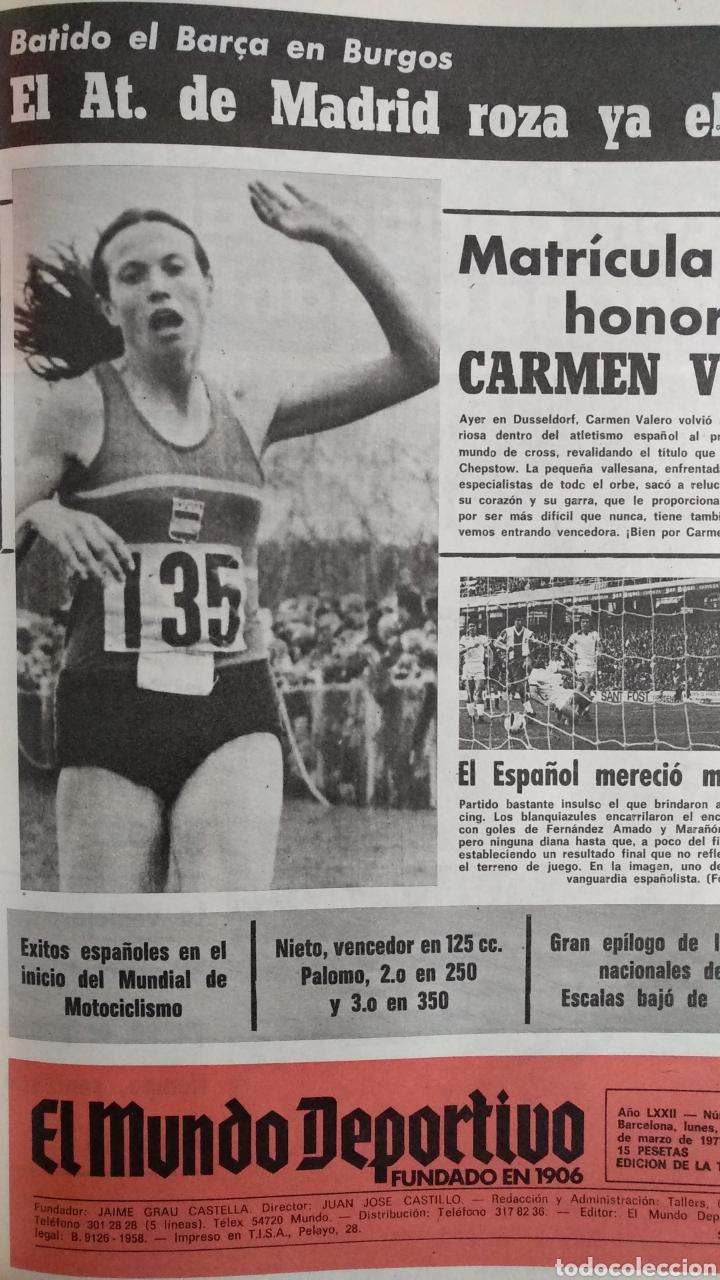 Coleccionismo deportivo: COMPILACIÓN ENCUADERNADA DE 22 EJEMPLARES DEL MUNDO DEPORTIVO - Foto 5 - 159511010