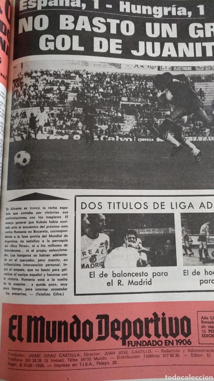 Coleccionismo deportivo: COMPILACIÓN ENCUADERNADA DE 22 EJEMPLARES DEL MUNDO DEPORTIVO - Foto 6 - 159511010