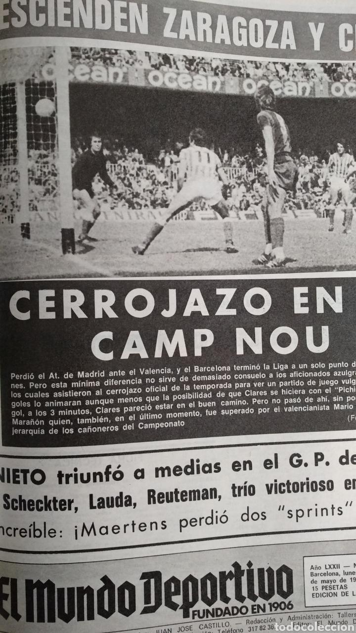 Coleccionismo deportivo: COMPILACIÓN ENCUADERNADA DE 22 EJEMPLARES DEL MUNDO DEPORTIVO - Foto 12 - 159511010