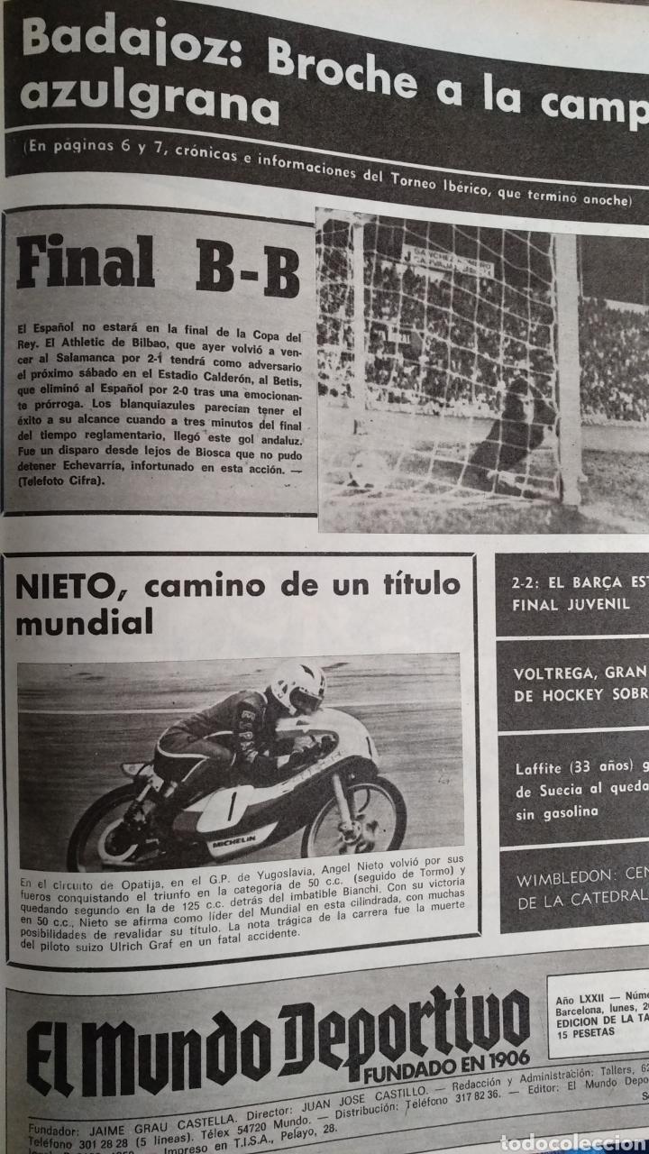 Coleccionismo deportivo: COMPILACIÓN ENCUADERNADA DE 22 EJEMPLARES DEL MUNDO DEPORTIVO - Foto 16 - 159511010