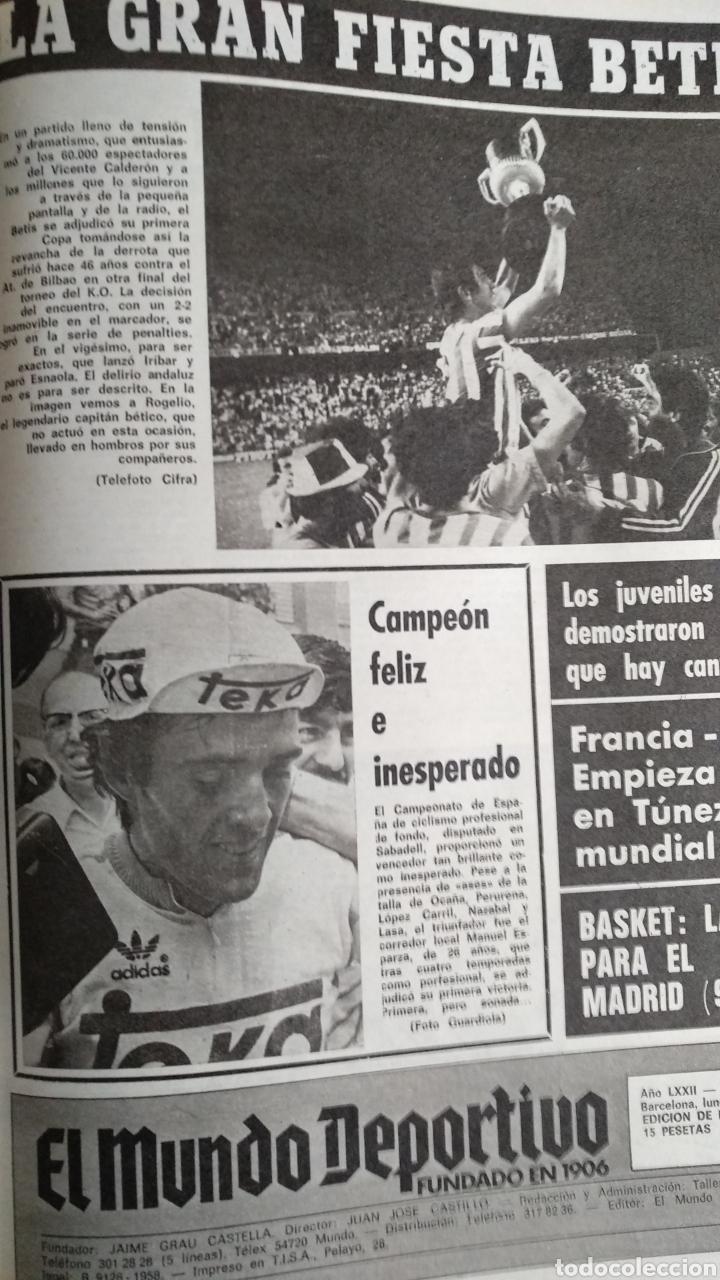 Coleccionismo deportivo: COMPILACIÓN ENCUADERNADA DE 22 EJEMPLARES DEL MUNDO DEPORTIVO - Foto 17 - 159511010