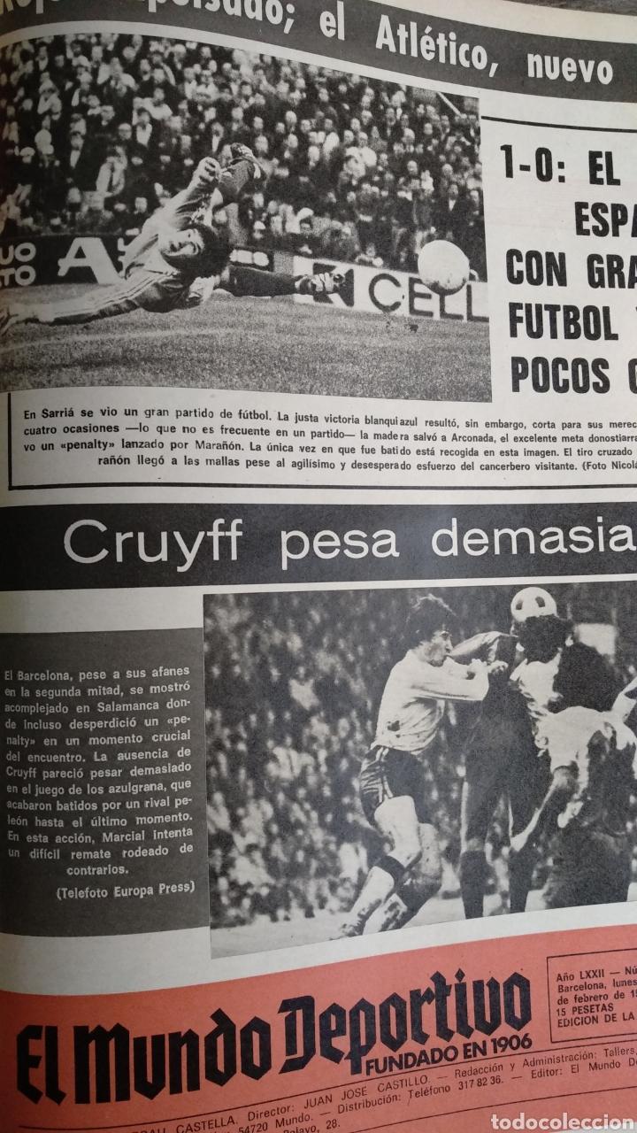 Coleccionismo deportivo: COMPILACIÓN ENCUADERNADA DE 22 EJEMPLARES DEL MUNDO DEPORTIVO - Foto 20 - 159511010