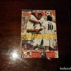 Coleccionismo deportivo: REVISTA DON BALON Nº 1445 - REAL MADRID CAMPEON DE LIGA 2002-03 -POSTER DE FERNANDO TORRES AT MADRID. Lote 159652726