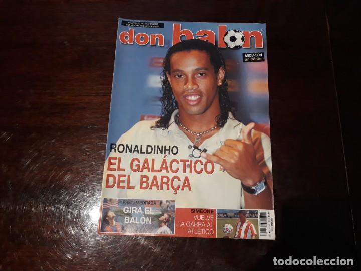 REVISTA DON BALON Nº 1449 -RONALDINHO GALÁCTICO DEL BARCA - POSTER DE ANDERSON VILLARREAL (Coleccionismo Deportivo - Revistas y Periódicos - Don Balón)