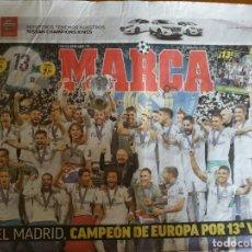 Coleccionismo deportivo: MARCA 27/MAYO/2018 REAL MADRID CAMPEON DE EUROPA - 13 CHAMPIONS. Lote 159834482