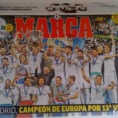 Coleccionismo deportivo: MARCA: REAL MADRID GANA SU DECIMOTERCERA CHAMPION . Lote 160068170
