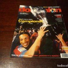 Coleccionismo deportivo: REVISTA DON BALON Nº 1595 - EL BARCELONA CAMPEON DE LIGA 2005-06 -POSTER DE BARCA CAMPEON. Lote 160157554