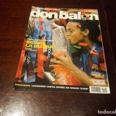 Coleccionismo deportivo: REVISTA DON BALON Nº 1597 - BARCELONA CAMPEÓN DE LA COPA DE EUROPA 2006 -POSTER BARCELONA CON COPA. Lote 160177246