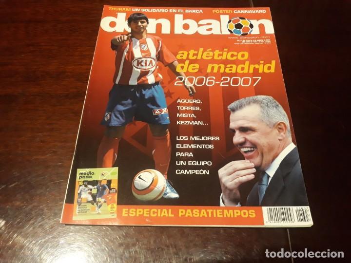REVISTA DON BALON Nº 1607 - ATLÉTICO DE MADRID 2006-07 - PÓSTER DE CANNAVARO REAL MADRID (Coleccionismo Deportivo - Revistas y Periódicos - Don Balón)