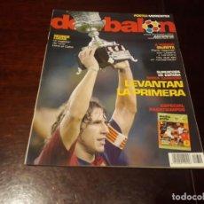 Coleccionismo deportivo: REVISTA DON BALON Nº 1610 - BARCELONA CAMPEON DE LA SUPERCOPA -POSTER DE MORIENTES VALENCIA C.F. Lote 160183066