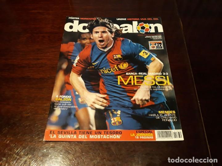 REVISTA DON BALON Nº 1639 - BARCA- REAL MADRID 3-3 - MESSI RESCATA - POSTER MORIENTES (Coleccionismo Deportivo - Revistas y Periódicos - Don Balón)