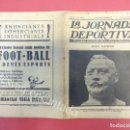 Coleccionismo deportivo: LA JORNADA DEPORTIVA. NUMERO ESPECIAL DESPLEGABLE HOMENATGE GAMPER. AÑO 1923. FC BARCELONA. Lote 160296902