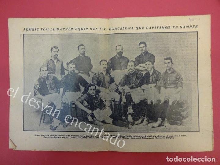 Coleccionismo deportivo: LA JORNADA DEPORTIVA. Numero Especial desplegable Homenatge GAMPER. Año 1923. FC BARCELONA - Foto 2 - 160296902