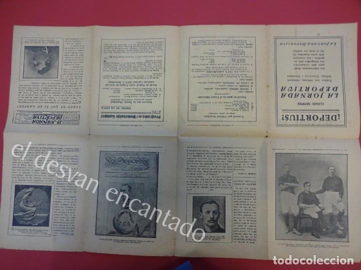 Coleccionismo deportivo: LA JORNADA DEPORTIVA. Numero Especial desplegable Homenatge GAMPER. Año 1923. FC BARCELONA - Foto 3 - 160296902