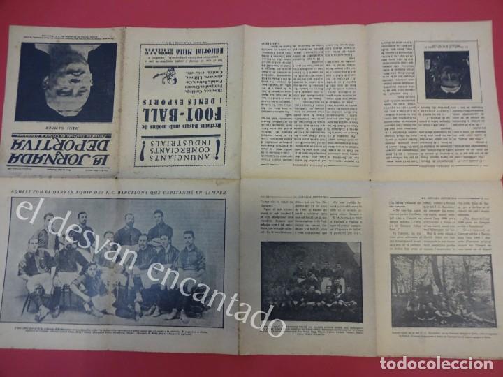 Coleccionismo deportivo: LA JORNADA DEPORTIVA. Numero Especial desplegable Homenatge GAMPER. Año 1923. FC BARCELONA - Foto 4 - 160296902