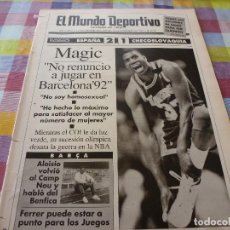 Coleccionismo deportivo: MUNDO DEPORTIVO(14-11-91)ESPAÑA 2 CHECOSLOVAQUIA 1,MAGIC JOHNSON(BASKET)III COPA ESPAÑA KARATE. Lote 160383518