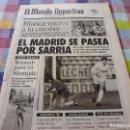 Coleccionismo deportivo: MUNDO DEPORTIVO(2-12-91)!!!ESPAÑOL 1 R.MADRID 5 !!!MILAN,INTER Y JUVENTUS,HIGUERA(TENIS). Lote 160386150