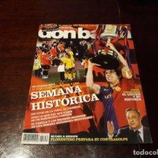 Coleccionismo deportivo: REVISTA DON BALON Nº 1752 -SEMANA HISTÓRICA , EN CUATRO DIAS EL BARCA CONQUISTA LIGA Y COPA- POSTER. Lote 160583242