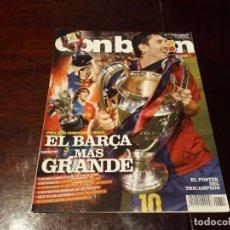 Coleccionismo deportivo: REVISTA DON BALON Nº 1754 - EL BARCA CAMPEON DE LA CHAMPIONS - POSTER DEL TRICAMPEON - . Lote 160583946