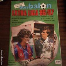 Coleccionismo deportivo: REVISTA DE FUTBOL DON BALON EXTRA Nº 11 LIGA CONTIENE POSTER CALENDARIO 1ª DIVISION 1986 1987 86 87. Lote 160650898