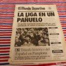 Coleccionismo deportivo: MUNDO DEPORTIVO(24-2-92)OSASUNA 0 ESPAÑOL 1,BARÇA 1 SPORTING GIJÓN 1,MILAN Y JUVENTUS SIN GOL. Lote 160774350