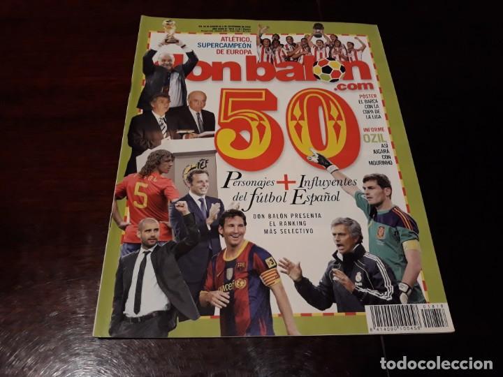 REVISTA DON BALON Nº 1818 - 50 PERSONAJES MAS INFLUYENTES DEL FUTBOL ESPAÑOL - POSTER DEL BARCELONA (Coleccionismo Deportivo - Revistas y Periódicos - Don Balón)