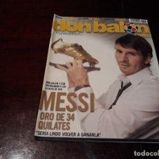Coleccionismo deportivo: REVISTA DON BALÓN Nº 1823 - MESSI , BOTA DE ORO - POSTER DE GEA . Lote 160797914
