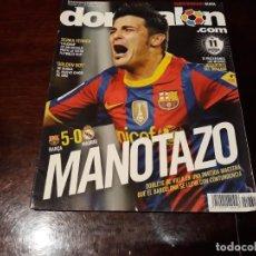 Coleccionismo deportivo: REVISTA DON BALÓN Nº 1831 - MANOTAZO - BARCA 5 - MADRID 0 - DOBLETE DE VILLA- POSTER CELTA. Lote 160852334