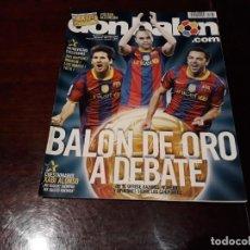 Coleccionismo deportivo: REVISTA DON BALON Nº 1833 - BALON DE ORO A DEBATE -POSTER DEL AD ALCORCON 2010-11. Lote 160852958