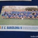 Coleccionismo deportivo: MINI POSTER LIGA 95 - 96 ( F.C. BARCELONA B ) + FICHAS DE LOS JUGADORES DEL S.D. EIBAR . Lote 160881078