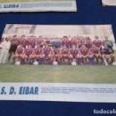 Coleccionismo deportivo: MINI POSTER LIGA 95 - 96 ( S.D. EIBAR ) + FICHAS DE LOS JUGADORES DEL U.E. LLEIDA. Lote 160881306