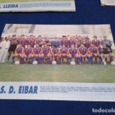 Colecionismo desportivo: MINI POSTER LIGA 95 - 96 ( S.D. EIBAR ) + FICHAS DE LOS JUGADORES DEL U.E. LLEIDA. Lote 160881306