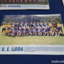 Coleccionismo deportivo: MINI POSTER LIGA 95 - 96 ( U.E. LLEIDA ) + FICHAS DE LOS JUGADORES DEL C.D. LOGROÑES. Lote 160881458