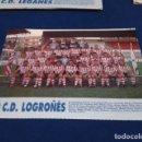 Coleccionismo deportivo: MINI POSTER LIGA 95 - 96 ( C.D. LOGROÑES ) + FICHAS DE LOS JUGADORES DEL C.D. LEGANES. Lote 160881582