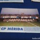 Coleccionismo deportivo: MINI POSTER LIGA 95 - 96 ( C.P. MERIDA ) + FICHAS DE LOS JUGADORES DEL SPORTING GIJON . Lote 160883090