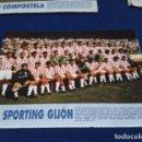 Coleccionismo deportivo: MINI POSTER LIGA 95 - 96 ( SPORTING GIJON ) + FICHAS DE LOS JUGADORES DEL S.D. COMPOSTELA. Lote 160883226