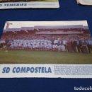 Coleccionismo deportivo: MINI POSTER LIGA 95 - 96 ( S.D. COMPOSTELA ) + FICHAS DE LOS JUGADORES DEL C.D. TENERIFE. Lote 160883382