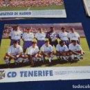 Coleccionismo deportivo: MINI POSTER LIGA 95 - 96 ( C.D. TENERIFE ) + FICHAS DE LOS JUGADORES DEL ATLETICO DE MADRID. Lote 160883566