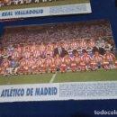 Coleccionismo deportivo: MINI POSTER LIGA 95 - 96 ( ATLETICO DE MADRID ) + FICHAS DE LOS JUGADORES DEL REAL VALLADOLID. Lote 160890542